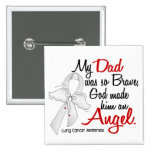 Angel 2 Dad Lung Cancer 2 Inch Square Button