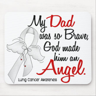 Angel 2 Dad Lung Cancer Mouse Pad