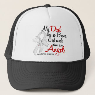 Angel 2 Dad Lung Cancer Trucker Hat