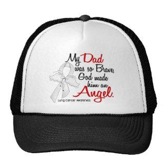 Angel 2 Dad Lung Cancer Trucker Hat