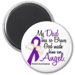 Angel 2 Dad Pancreatic Cancer 2 Inch Round Magnet