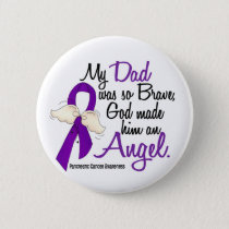 Angel 2 Dad Pancreatic Cancer Pinback Button