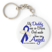Angel 2 Daddy Colon Cancer Keychain