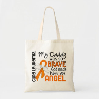 Angel 2 Daddy Leukemia Tote Bag