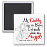 Angel 2 Daddy Lung Cancer 2 Inch Square Magnet