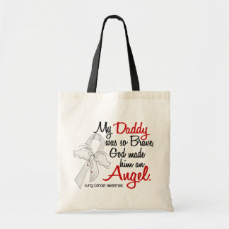 Angel 2 Daddy Lung Cancer Budget Tote Bag