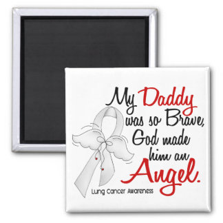 Angel 2 Daddy Lung Cancer Magnet