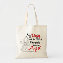 Angel 2 Daddy Lung Cancer Tote Bag