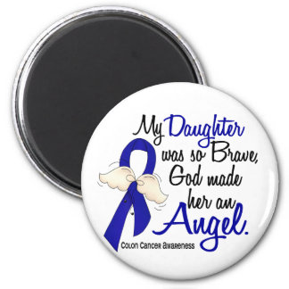 Angel 2 Daughter Colon Cancer 2 Inch Round Magnet