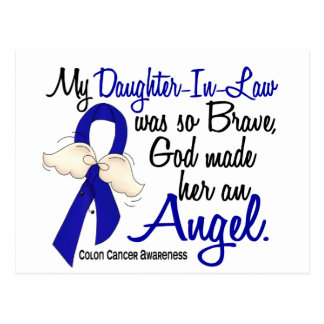 Angel 2 Daughter-In-Law Colon Cancer Postcard