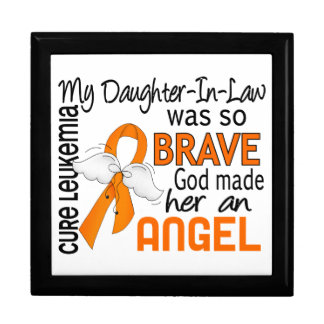 Angel 2 Daughter-In-Law Leukemia Keepsake Box