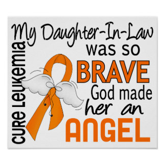 Angel 2 Daughter-In-Law Leukemia Posters