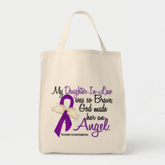 Angel 2 Daughter-In-Law Pancreatic Cancer Canvas Bag