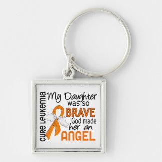 Angel 2 Daughter Leukemia Keychain