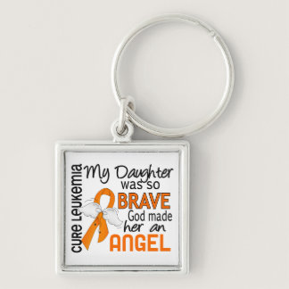 Angel 2 Daughter Leukemia Keychain