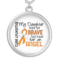 Angel 2 Daughter Leukemia Silver Plated Necklace