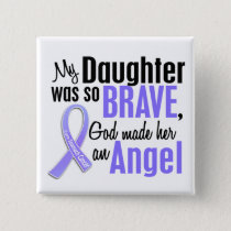 Angel 2 Daughter Stomach Cancer Pinback Button