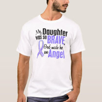 Angel 2 Daughter Stomach Cancer T-Shirt