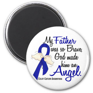 Angel 2 Father Colon Cancer 2 Inch Round Magnet