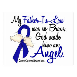 Angel 2 Father-In-Law Colon Cancer Postcard