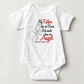 Angel 2 Father Lung Cancer Baby Bodysuit