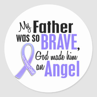 Angel 2 Father Stomach Cancer Classic Round Sticker