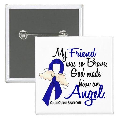 Angel 2 Friend Colon Cancer Pin