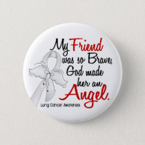 Angel 2 Friend Lung Cancer Pinback Button