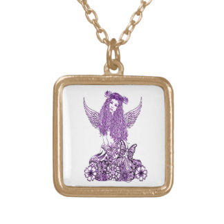 Angel 2 gold plated necklace