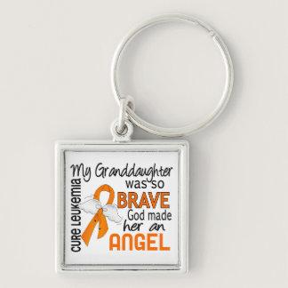 Angel 2 Granddaughter Leukemia Keychain
