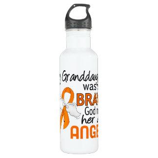 Angel 2 Granddaughter Leukemia Water Bottle