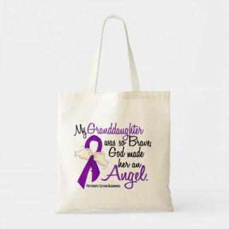 Angel 2 Granddaughter Pancreatic Cancer Canvas Bag