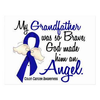 Angel 2 Grandfather Colon Cancer Postcard