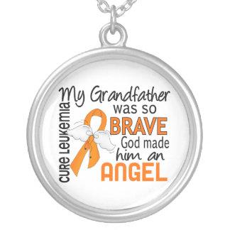Angel 2 Grandfather Leukemia Custom Necklace