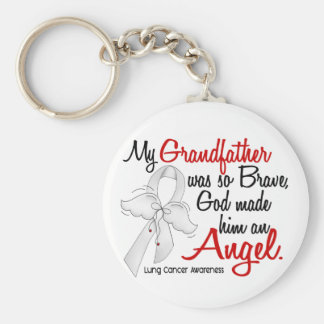 Angel 2 Grandfather Lung Cancer Keychain