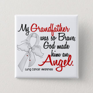 Angel 2 Grandfather Lung Cancer Pinback Button