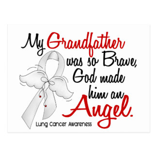 Angel 2 Grandfather Lung Cancer Postcard