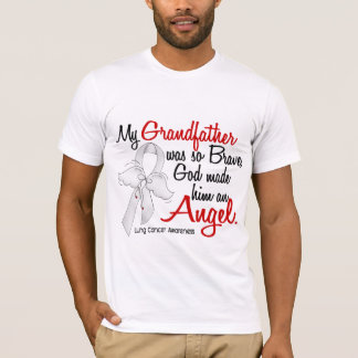 Angel 2 Grandfather Lung Cancer T-Shirt