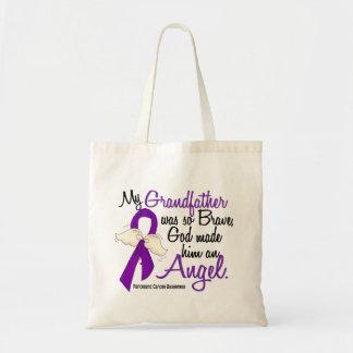 Angel 2 Grandfather Pancreatic Cancer Canvas Bag