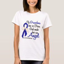 Angel 2 Grandma Colon Cancer T-Shirt