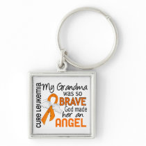Angel 2 Grandma Leukemia Keychain