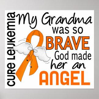 Angel 2 Grandma Leukemia Print