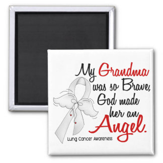 Angel 2 Grandma Lung Cancer Magnet