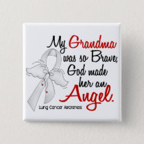 Angel 2 Grandma Lung Cancer Pinback Button