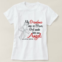 Angel 2 Grandma Lung Cancer T-Shirt