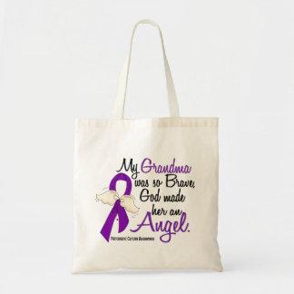 Angel 2 Grandma Pancreatic Cancer Canvas Bags