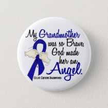 Angel 2 Grandmother Colon Cancer Pinback Button