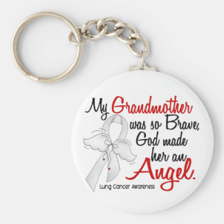 Angel 2 Grandmother Lung Cancer Key Chains