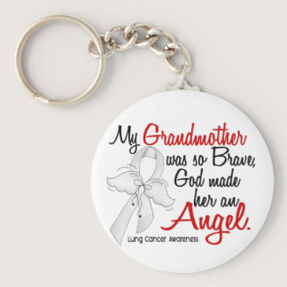 Angel 2 Grandmother Lung Cancer Keychain