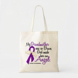 Angel 2 Grandmother Pancreatic Cancer Tote Bag